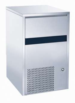 Ice maker - Solid cube 18gr - Air cooling. Electronic control system - production 40 kg in 24h - storage 15 kg.
